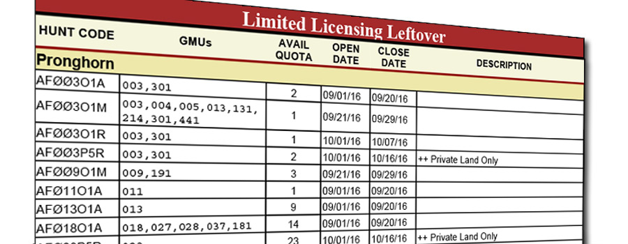 Leftover Licenses