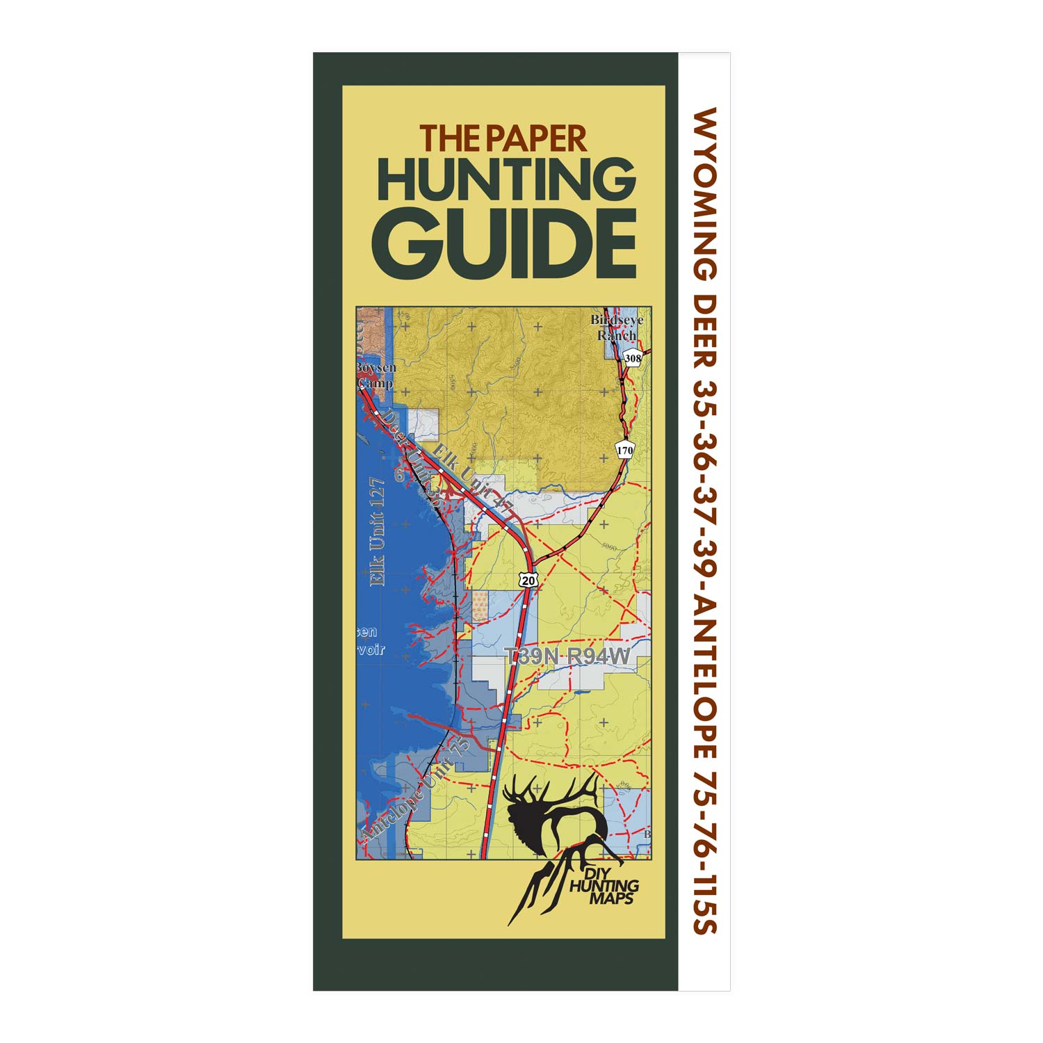 Wyoming Topographic Hunting Map for Elk Unit 47,48 and Deer ...