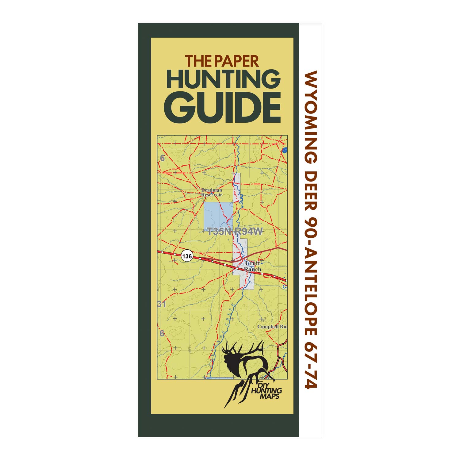 Wyoming Topographic Hunting Map for Elk Unit 128 and Deer Unit 90 ...